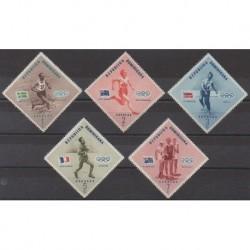 Dominican (Republic) - 1957 - Nb 457/461 - Summer Olympics
