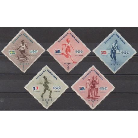 Dominicaine (République) - 1957 - No 457/461 - Jeux Olympiques d'été