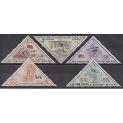Dominican (Republic) - 1957 - Nb 469/473 - Summer Olympics