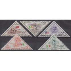Dominicaine (République) - 1957 - No 469/473 - Jeux Olympiques d'été