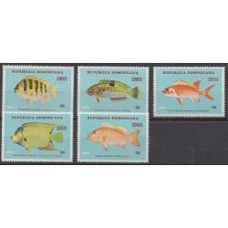 Dominican (Republic) - 1976 - Nb 781/785 - Sea life