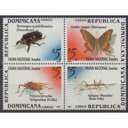 Dominican (Republic) - 1999 - Nb 1388/1391 - Insects