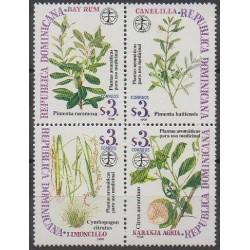 Dominican (Republic) - 1998 - Nb 1323/1326 - Flora