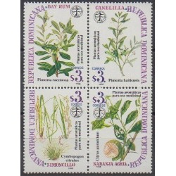 Dominicaine (République) - 1998 - No 1323/1326 - Flore