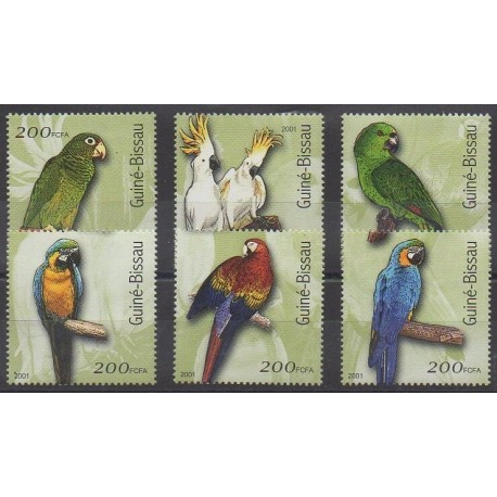 Guinée-Bissau - 2001 - No 861/866 - Oiseaux