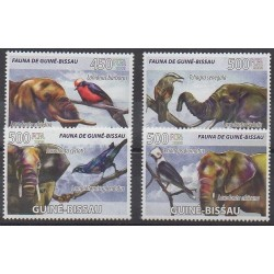 Guinea-Bissau - 2008 - Nb 2530/2533 - Mamals - Birds