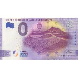 Euro banknote memory - 63 - Le-Puy-de-Dôme et la chaîne des puys - 2020-5 - Anniversary