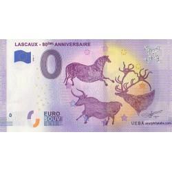 Euro banknote memory - 24 - Lascaux - 80ème anniversaire - 2020-7