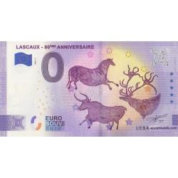 Euro banknote memory - 24 - Lascaux - 80ème anniversaire - 2020-7 - Anniversary