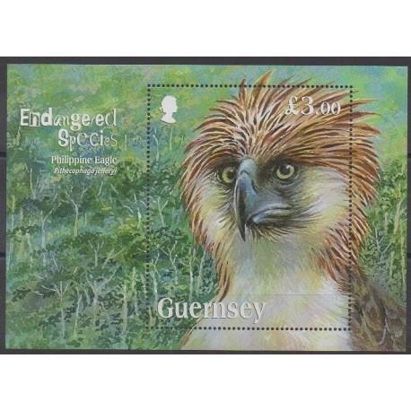 Guernesey - 2016 - No F1575 - Oiseaux - Espèces menacées - WWF