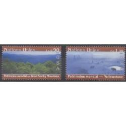 Nations Unies (ONU - Genève) - 2003 - No 486/487 - Parcs et jardins