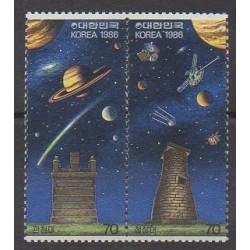 Corée du Sud - 1986 - No 1306/1307 - Astronomie