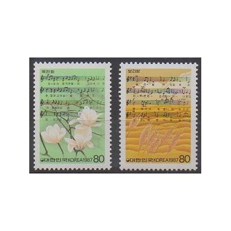 Corée du Sud - 1987 - No 1356/1357 - Musique