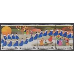 Corée du Sud - 1987 - No 1382/1385 - Folklore