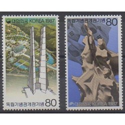 Corée du Sud - 1987 - No 1379/1380 - Monuments