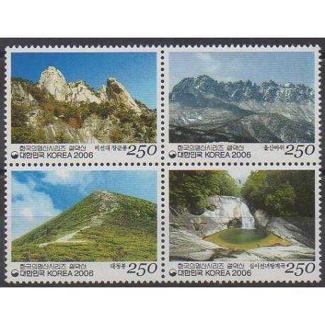 Corée du Sud - 2006 - No 2345/2348 - Sites