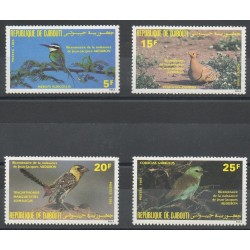 Djibouti - 1985- Nb 596/599 - Birds