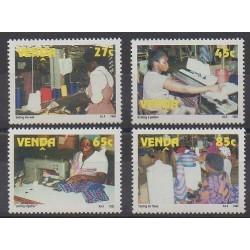Afrique du Sud - Venda - 1992 - No 233/236 - Artisanat ou métiers