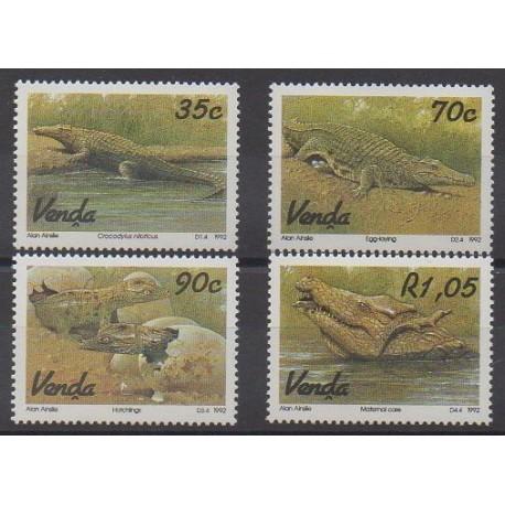 Afrique du Sud - Venda - 1992 - No 245/248 - Reptiles