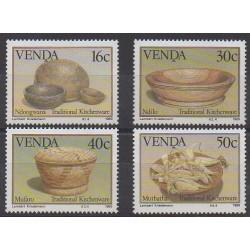 Afrique du Sud - Venda - 1989 - No 183/186 - Artisanat ou métiers