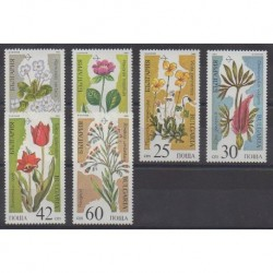 Bulgaria - 1989 - Nb 3229A/3229F - Flowers