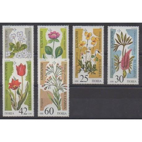 Bulgarie - 1989 - No 3229A/3229F - Fleurs