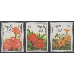 Angola - 1990 - Nb 778/780 - Flowers