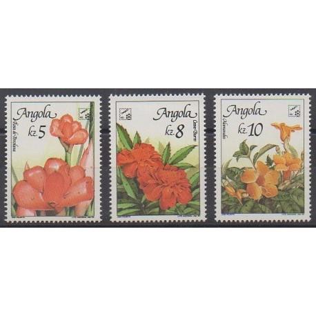 Angola - 1990 - No 778/780 - Fleurs
