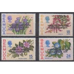 Bermuda - 1972 - Nb 276/279 - Flowers - Various Historics Themes