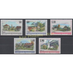 Liechtenstein - 2000 - No 1170/1174 - Monuments