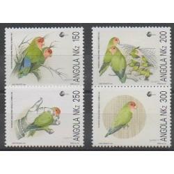 Angola - 1992 - No 862/865 - Oiseaux