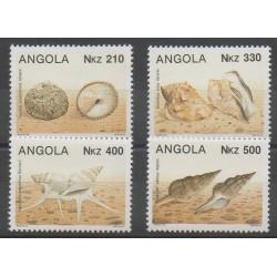 Angola - 1993 - No 884/887 - Vie marine
