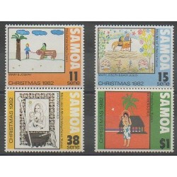 Samoa - 1982 - No 521/524 - Noël - Dessins d'enfants