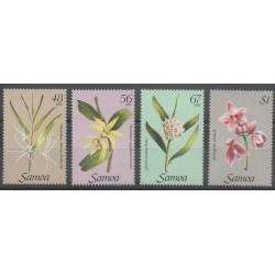 Samoa - 1985 - Nb 572/575 - Orchids