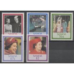 Samoa - 1986 - No 607/611 - Royauté - Principauté