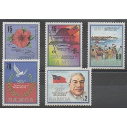 Samoa - 1987 - Nb 623/627 - Various Historics Themes