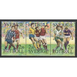 Sweden - 1988- Nb 1489/1491 - Football