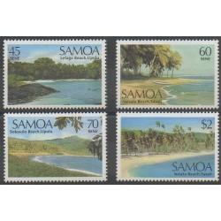 Samoa - 1987 - Nb 632/635 - Sights