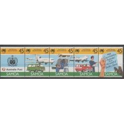 Samoa - 1988 - No 644/648 - Histoire - Service postal