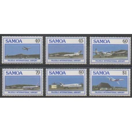 Samoa - 1988 - No 649/654 - Aviation