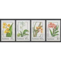 Samoa - 1989 - Nb 682/685 - Orchids