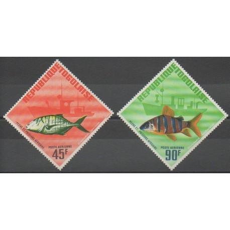 Togo - 1967 - No PA63/PA64 - Vie marine