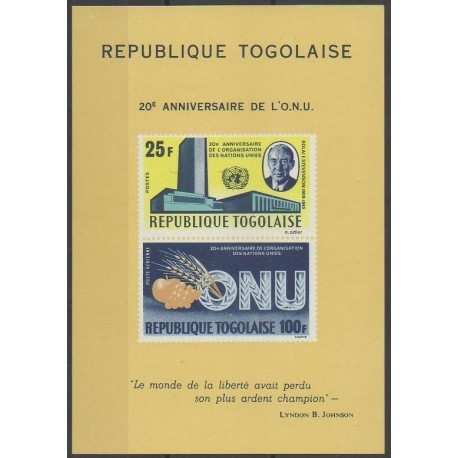 Togo - 1965 - No BF19 - Nations unies