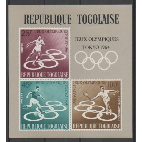 Togo - 1964 - No BF12 - Jeux Olympiques d'été - Neuf avec charnière - Oblitéré