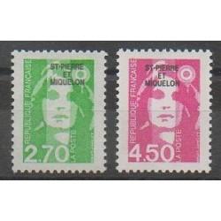 Saint-Pierre et Miquelon - 1996 - No 630/631