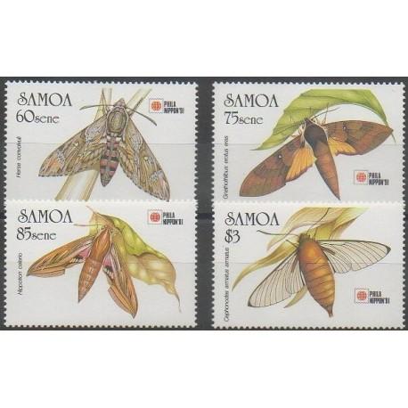 Samoa - 1991 - No 730/733 - Insectes - Philatélie