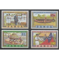 Samoa - 1992 - Nb 738/741 - Various Historics Themes