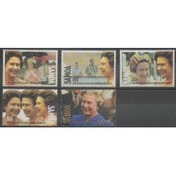 Samoa - 1992 - No 742/746 - Royauté - Principauté