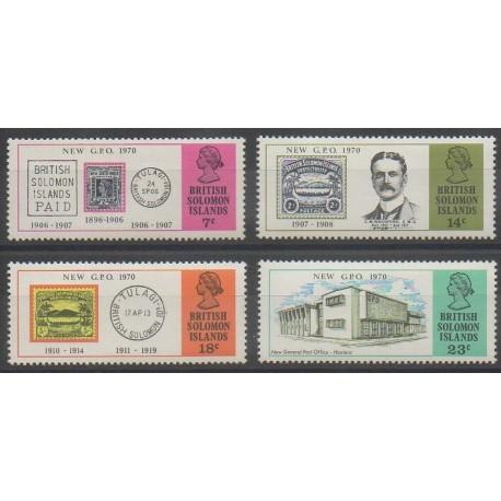 Salomon (Iles) - 1970 - No 185/188 - Service postal - Timbres sur timbres