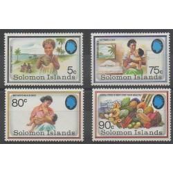 Salomon (Iles) - 1991 - No 718/721 - Santé ou Croix-Rouge